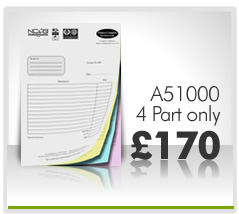 4 Part Invoice Pads Printing