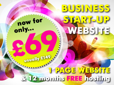 Web Design Special Offer: 1 Page Website Design PLUS 12 Months Web Hosting Free