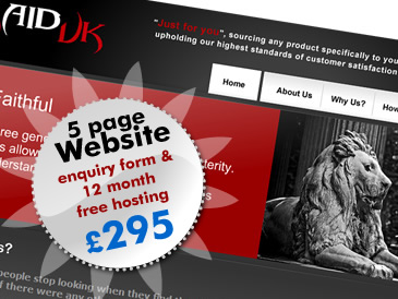 Web Design Special Offer: 5 Page Website Design PLUS 12 Months Web Hosting Free