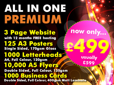 SPECIAL OFFER: All in One Premium Package only £499