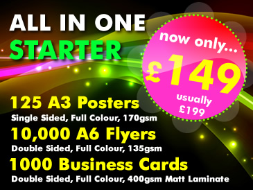SPECIAL OFFER: All in One Starter Package only �149